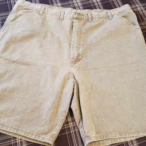 Wrangler Hero Khaki Denim Cargo Mens Shorts 44